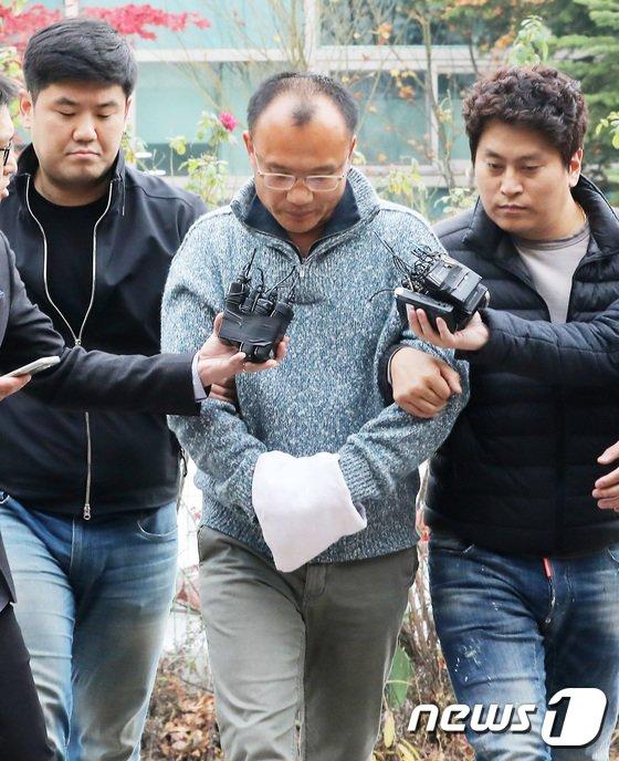 [사진]고개 숙인 양진호 회장