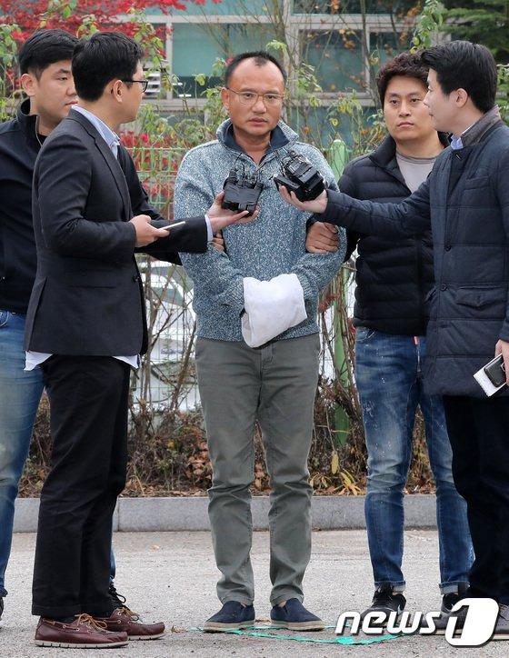 [사진]'폭행과 강요 등 혐의' 양진호 회장 체포