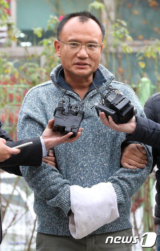 [사진]경찰, '폭행·엽기행각' 양진호 회장 체포