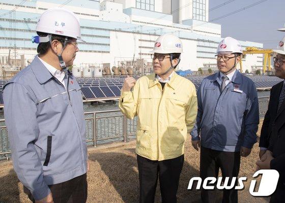[사진]당진화력발전소 방문한 조명래 환경부 장관
