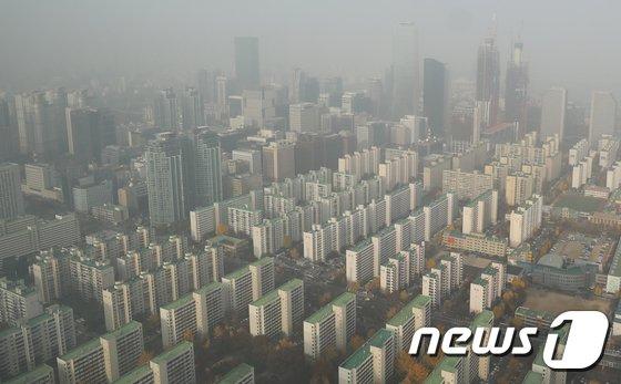 [사진]여의도 빌딩숲의 미세먼지