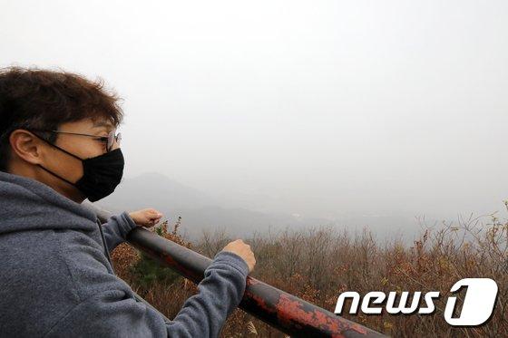 [사진]'미세먼지 때문에 마스크 착용했어요'
