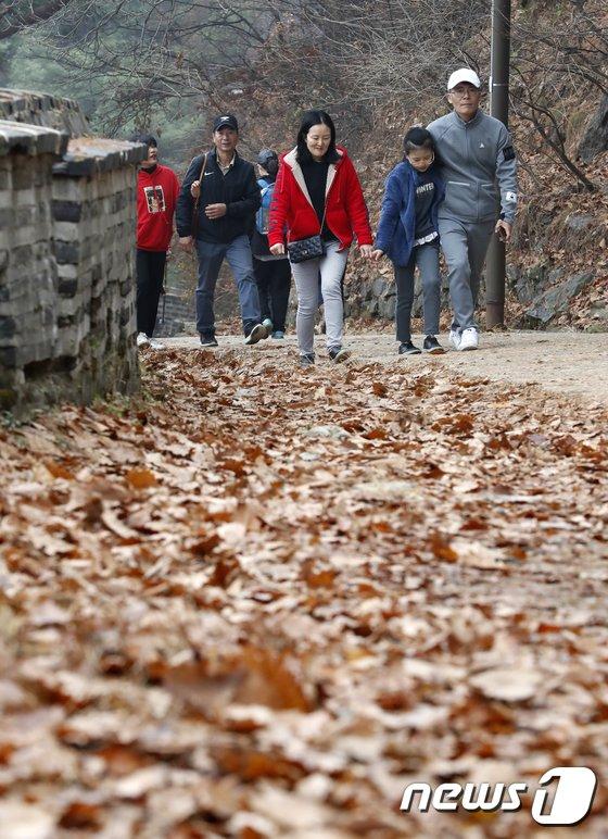 [사진]'낙엽길 걸으며'