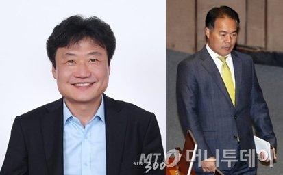 김종천 전 청와대 의전비서실장(왼쪽)과 이용주 민주평화당 의원/사진=머니투데이DB