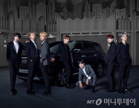 팰리세이드 글로벌 홍보대사 BTS/사진제공=현대차