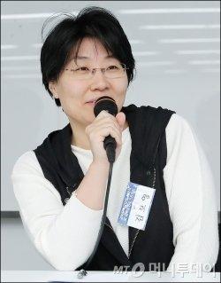 김보영 SF작가. /사진=김창현 기자<br />