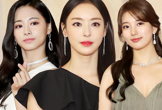 그룹 트와이스 쯔위, 배우 이다희, 가수 겸 배우 수지/사진=뉴스1, 김휘선 기자