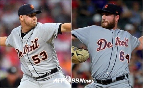 한화 서폴드(왼쪽)-벨.  /AFPBBNews=뉴스1