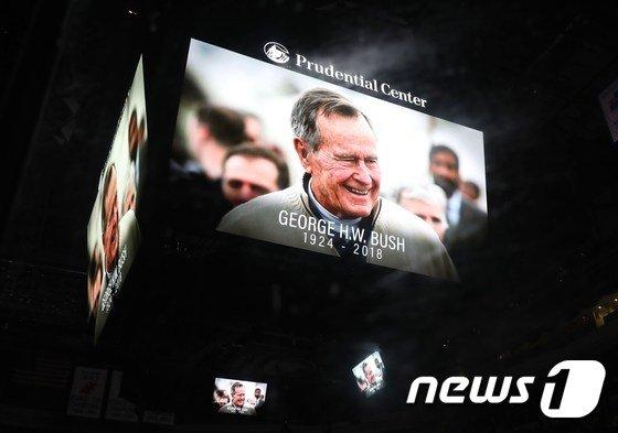 '아버지 부시' 조지 H.W. 부시의 생전 모습. (자료사진)  © AFP=뉴스1