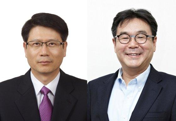 장우영 제이에이에스(JAS) 대표(왼쪽), 김성호 코스파(KOSPA) 대표/사진제공=애경그룹