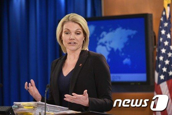 헤더 나워트 미 국무부 대변인 ⓒ AFP = 뉴스1