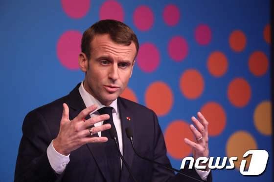 에마뉘엘 마크롱 대통령. © AFP=뉴스1