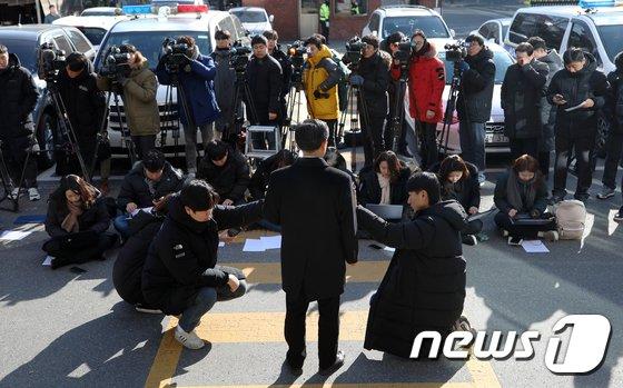 [사진]'세월호 유족 사찰혐의' 이재수 전 기무사령관 유서 공개 기자회견