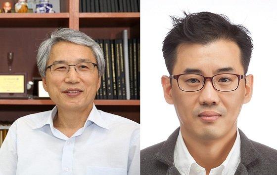 (왼쪽부터)한국생명공학연구원 최인표 책임연구원, 크루셜텍의 김재흥 이사/사진=과기정통부