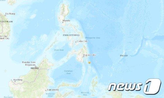 지진 발생 지점. (출처=미 지질조사국 갈무리) © News1