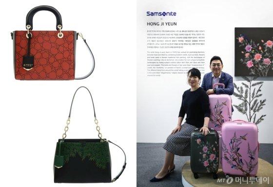 (좌측)루이까또즈 2019 S/S 컬렉션 빙렬, 대나무, (우측) 쌤소나이트 홍지민 작가 콜라보레이션 작품 /사진제공=루이까또즈, 쌤소나이트