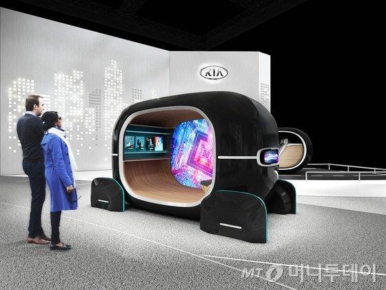 기아자동차가 다음달 미국 라스베가스 컨벤션센터에서 열리는 'CES 2019'에서 '감성 주행의 공간(Space of Emotive Driving)'을 전시 테마로 새로운 모빌리티 기술 방향성을 공개할 예정이다. 사진은 '실시간 감정반응 차량제어(R.E.A.D.) 시스템'을 직접 경험해 볼 수 있는 체험형 전시물이다./사진=기아자동차