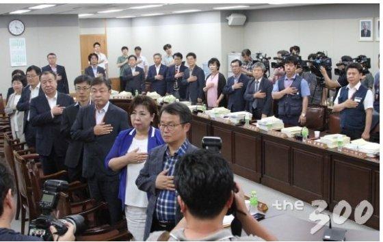2017년 7월 최저임금위원회 제11차 전원회의. /사진=최저임금위원회