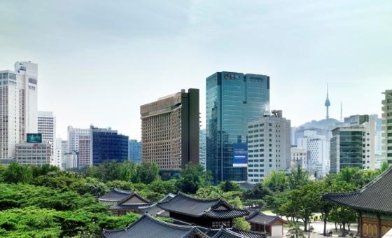서울 중구에 위치한 더 플라자 호텔 전경. /사진제공= 한화호텔앤리조트