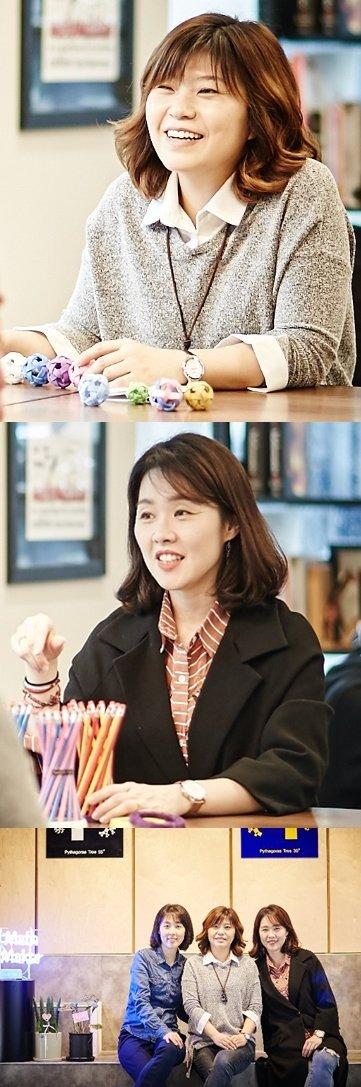 (위쪽 부터) 미니세탁파크로를 개발한 김이선씨, 쌍곡타워 펜슬 홀더 개발에 참여한 이윤미씨 모두 엄도경 출신이다. /사진제공=수학사랑
