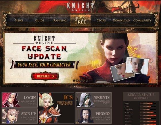 나이트 온라인의 미국, 터키 공식 홈페이지 화면 / 사진제공=엠게임