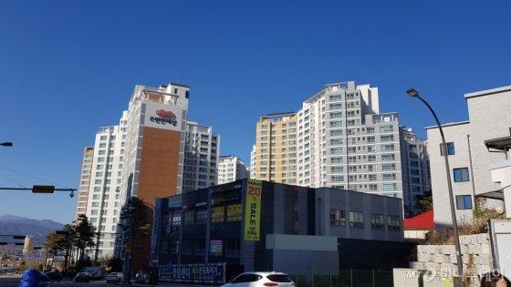 춘천시 내 아파트 단지 모습/사진= 박미주 기자