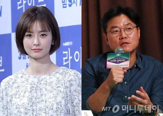 배우 정유미씨(왼쪽)와 CJ ENM 나영석 PD/사진=머니투데이 포토DB
