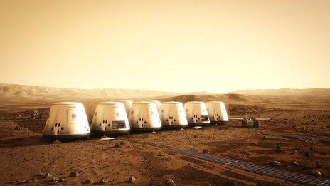 마스 원의 화성 개척 기지 상상도 (BBC) © News1