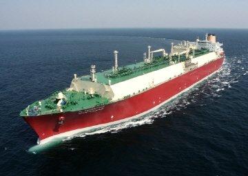 현대중공업이 건조한 21만6000㎥ 규모 LNG선/출처=머니투데이DB