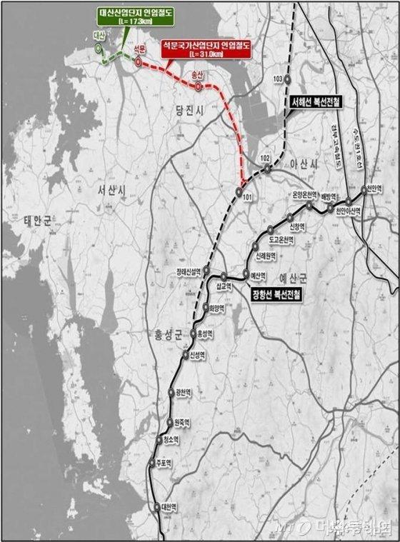 제3차 국가 철도망 구축계획(출처:충청남도)