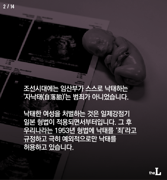 [카드뉴스] 낙태는 '죄'일까 '권리'일까