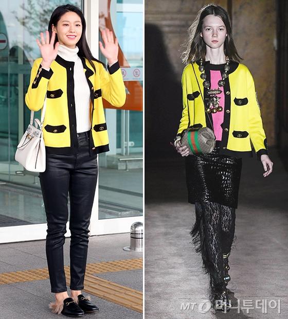 그룹 AOA 설현, Gucci 2019 S/S 컬렉션/사진=임성균 기자, Gucci