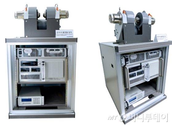 KBSI가 개발한 벤치탑 전자석 플랫폼 시스템./사진제공=한국기초과학지원연구원