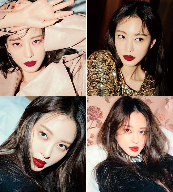 다양한 레드 립을 연출한 배우 한예슬./사진=엘르, 한예슬 인스타그램