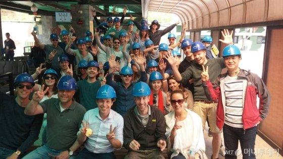 지난해 비무장지대(DMZ) 관광에 참여한 외국인 관광객의 모습. /사진=머니투데이DB