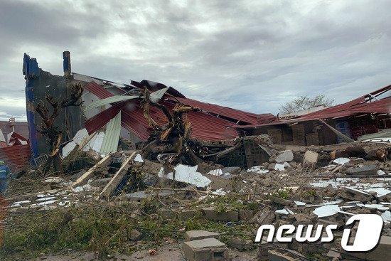 열대성 폭풍(싸이클론) 이다이가 지나간 모잠비크 시내. © AFP=뉴스1