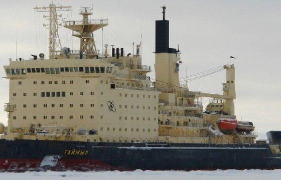 러시아의 핵발전 쇄빙선인 타이미르호 - SCMP 갈무리