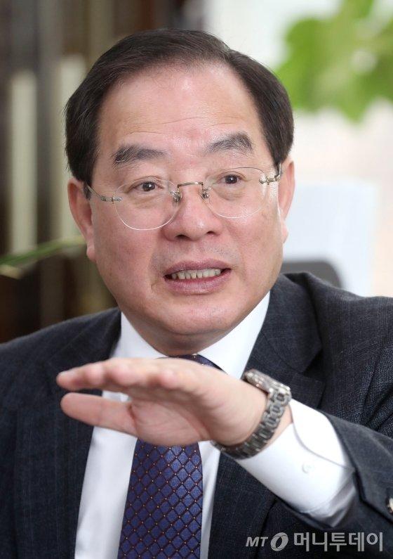 하윤수 한국교원총연합회 회장./ 사진=홍봉진 기자