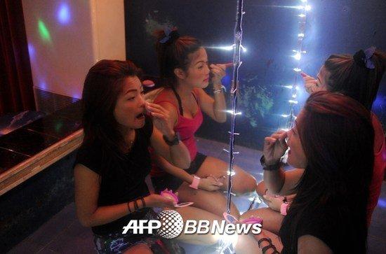 2014년 11월5일 필리핀 '성매매 관광지'로 유명한 앙헬레스 거리 풍경 /AFPBBNews=뉴스1