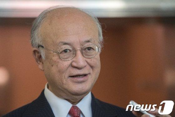 유키아 아마노 IAEA 사무총장.  2017.9.29/뉴스1 © News1 성동훈 기자
