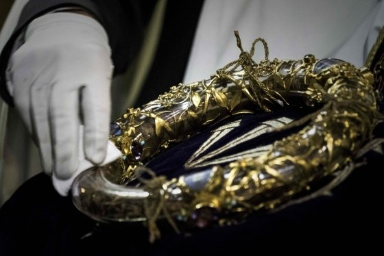 가시면류관. 역사학자들은 만들어진 지 1600년 정도 된 것으로 추정한다. /AFPBBNews=뉴스1