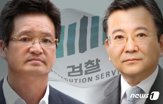 건설업자 윤중천씨(왼쪽)와 김학의 전 법무부 차관. © News1 김일환 디자이너