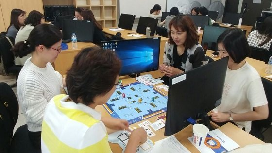 부산대에서 지난해 실시한 '3기 강사양성과정' 교육 현장/사진=SW중심대학협의회