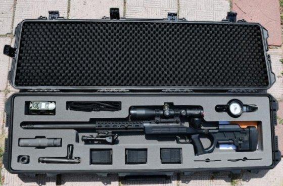 저격용 소총인 K14와 부속품을 하드케이스에 넣어둔 모습 / 사진제공 = 육군<br />