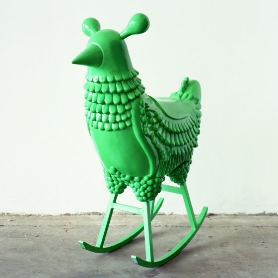 Green Chicken, 2006, Lacquered fiberglass & leather & steel, 100 x 40 x 121 cm, Courtesy of the Groninger Museum, NL. /사진제공=대림미술관