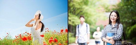 한가운데 인물을 배치한 예시(왼쪽)와 우측 2/3 지점에 인물을 배치한 예시(오른쪽)/사진=이미지투데이