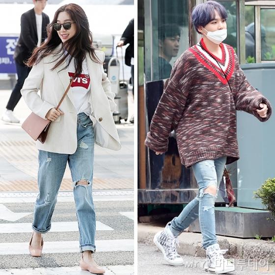 배우 정려원, 그룹 방탄소년단 슈가 /사진=머니투데이 DB