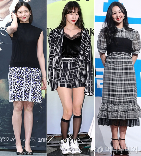 배우 이솜, 그룹 우주소녀 보나, 가수 신유미/사진=머니투데이 DB, 홍봉진 기자