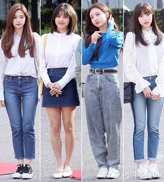 그룹 트와이스 쯔위, 지효, 나연, 미나/사진=김휘선 기자