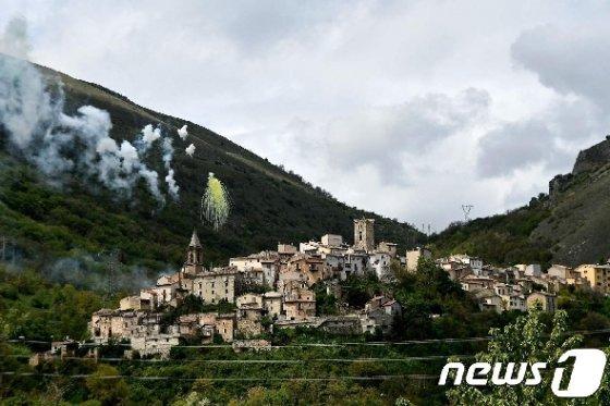 쿠클로 마을 전경 © AFP=뉴스1